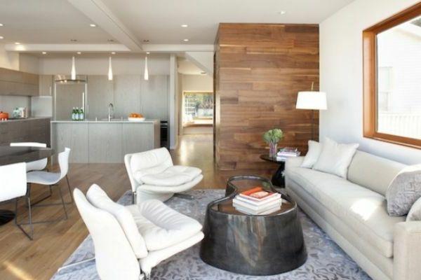 nesttisch und weiße möbel im wohnzimmer - Schaffen Sie eine ...