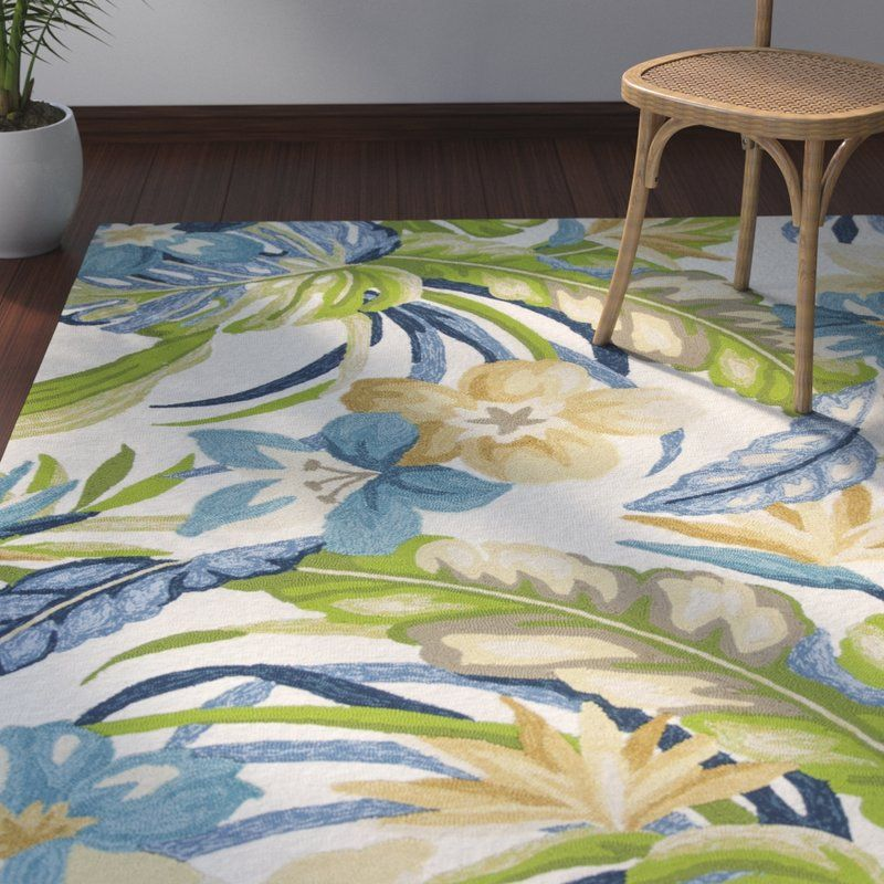 The Living Room Malvern: Malvern Tropics Hooked Ivory Indoor/Outdoor Area Rug
