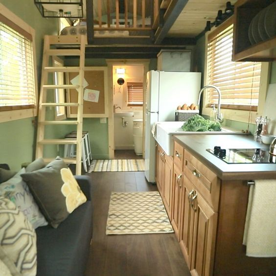 Tiny House Nation 207 Sq Ft House Episode 8 Minnesota Couple Builds Mobile Prairie Cottage For Thei Tiny House Kitchen Tiny House Nation Tiny House Living