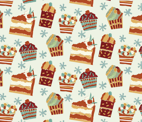 The torn paper makes it feel so HAPPY!    A nice slice fabric by cjldesigns on Spoonflower - custom fabric