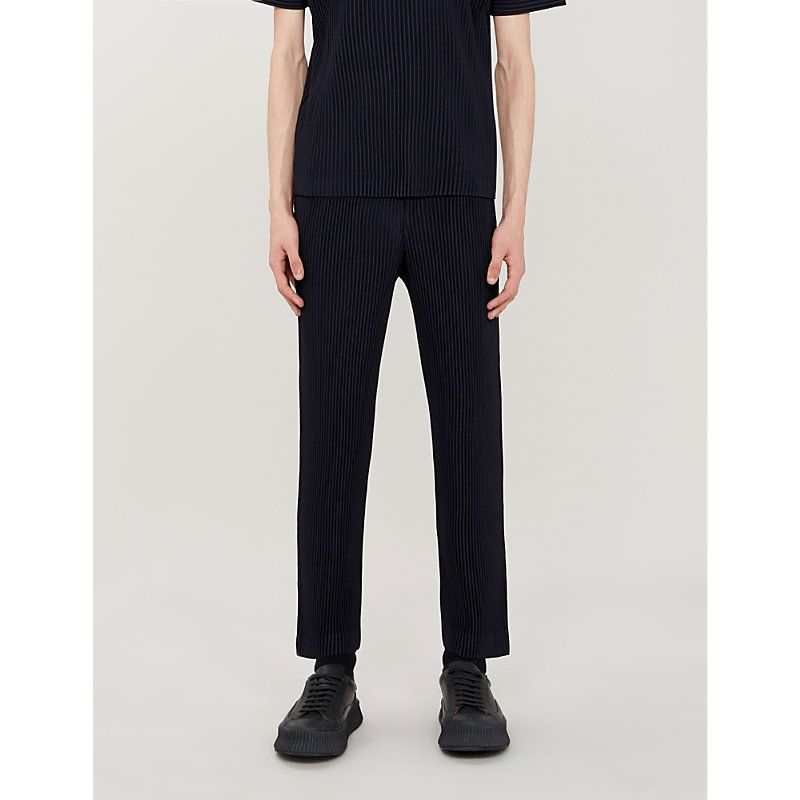 7383b2ae5 HOMME PLISSE ISSEY MIYAKE BASIC STRAIGHT PLEATED CREPE TROUSERS.  #hommeplisseisseymiyake #cloth