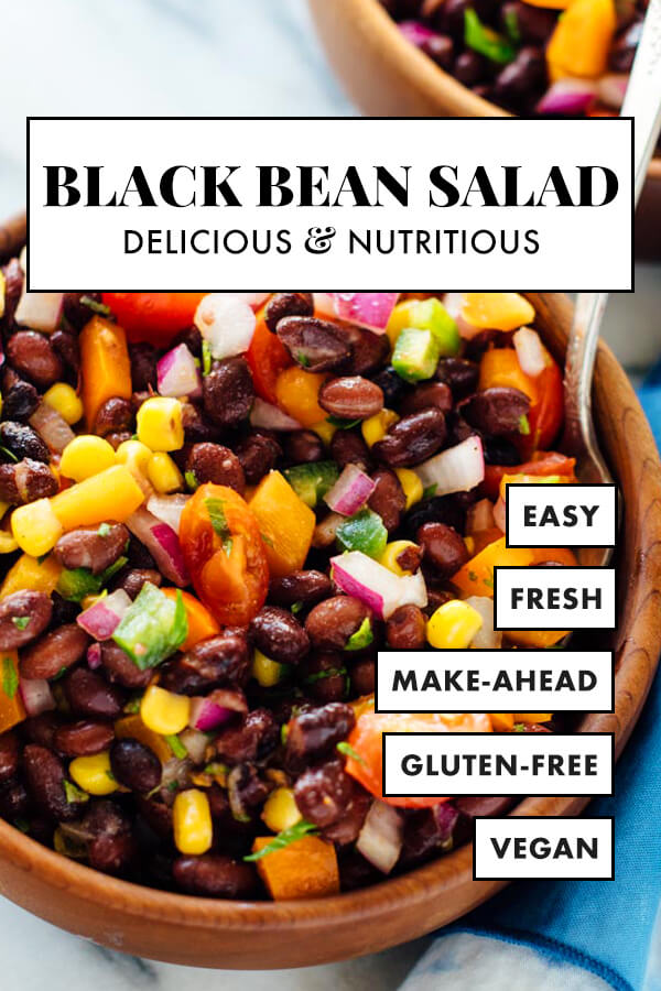 Fresh Black Bean Salad Recipe Cookie And Kate Recipe Bean Salad Recipes Black Bean Salad Recipe Bean Salad