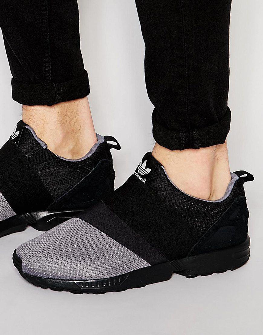 adidas negras sin cordones