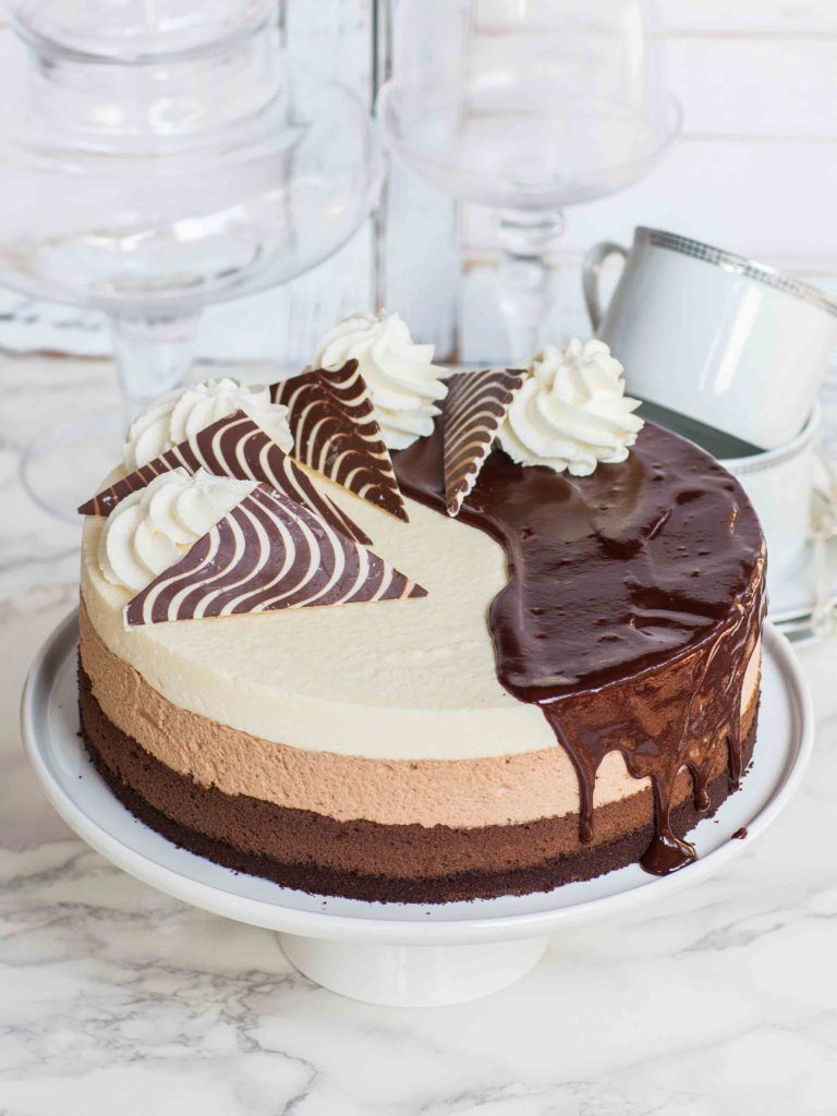 Triple Chocolate Cheesecake Video Tatyanas Everyday Food Recipe Chocolate Cheesecake Best Chocolate Cheesecake Cheesecake Recipes