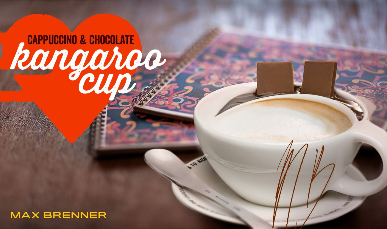 The Kangaroo Cappuccino Cup Was Designed With A Chocolate