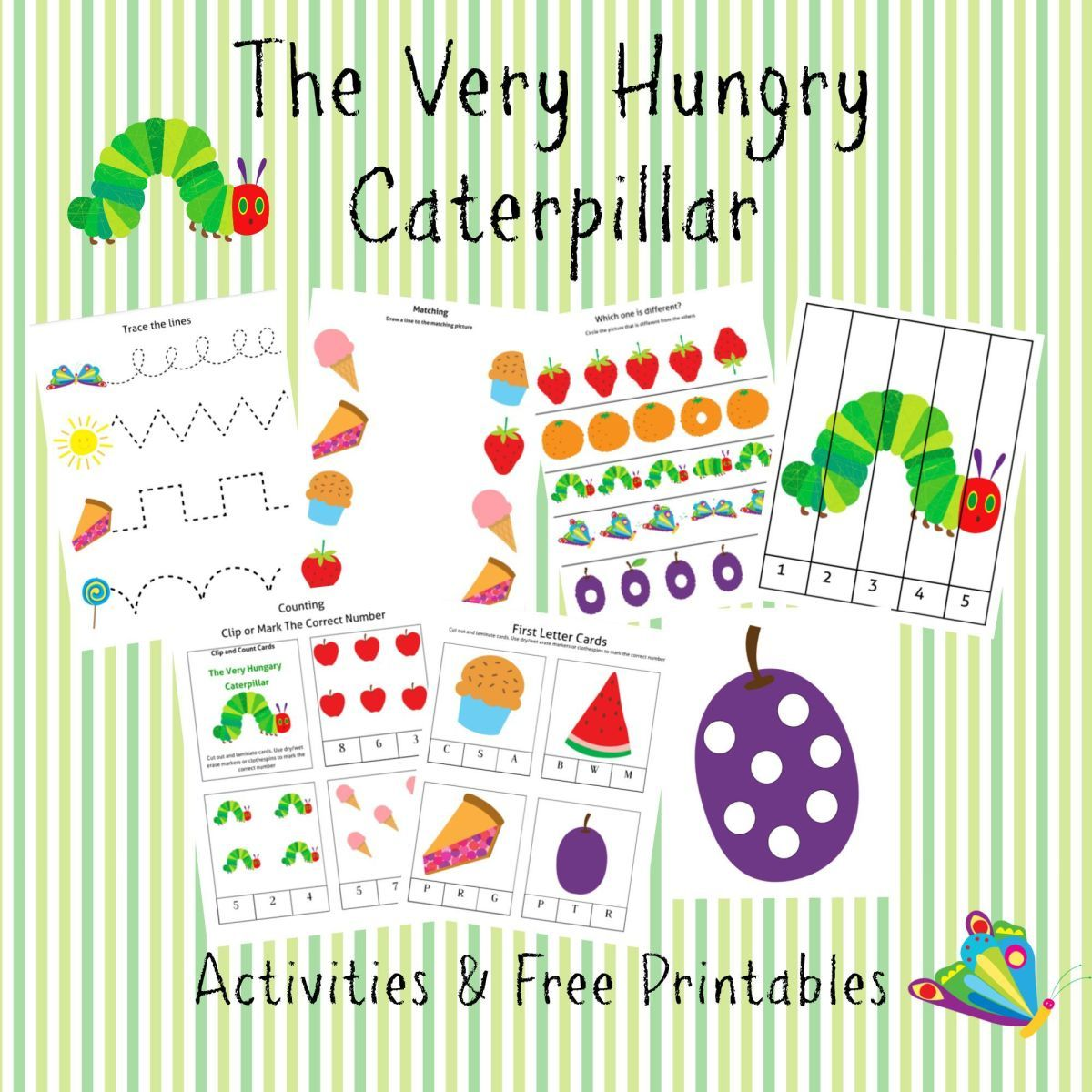 Free The Very Hungry Caterpillar 96 Page Printable Fre Very Hungry Caterpillar Printables Hungry Caterpillar Activities The Very Hungry Caterpillar Activities [ 1200 x 1200 Pixel ]
