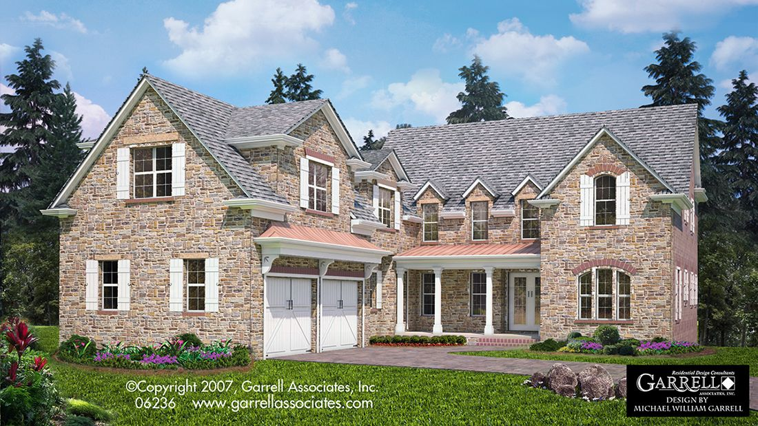 Moss Stone Cottage House Plan 06236 Front Elevation Courtyard Style House Plans English Tudor S Cottage House Plans Luxury House Plans Cottage House Designs