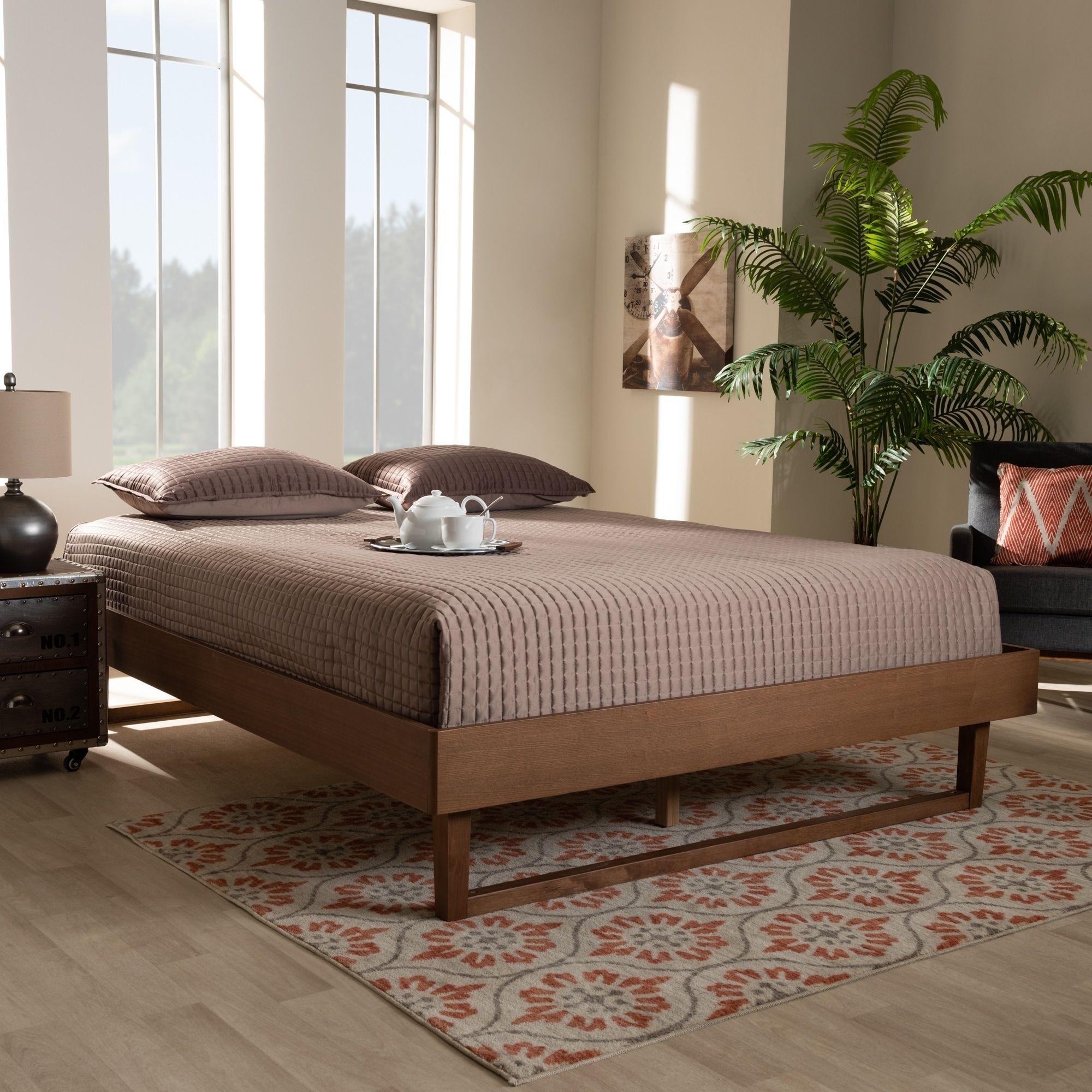 Best Carson Carrington Ulvsta Mid Century Platform Bed Frame 640 x 480