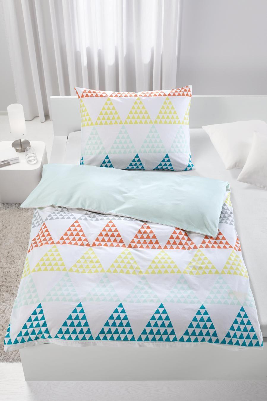 Bettwäsche Pyramid Wende Farbenfrohe Bettwäsche Mit Geometrischen