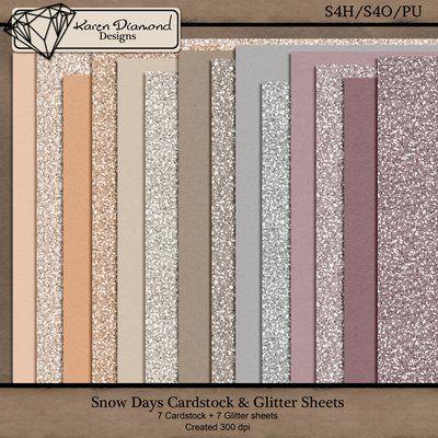 Snow Days Cardstock & Glitter {S4H/S4O/PU}