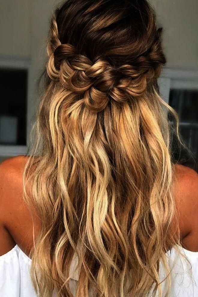 braided wedding hair loose-curls-with twisted braid beyond ...