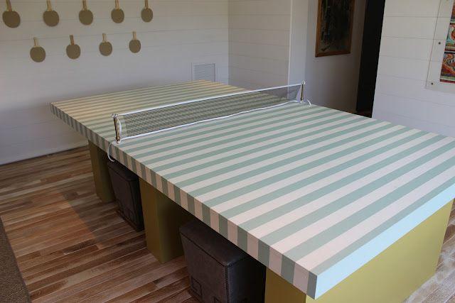 Design Indulgence Coastal Living Show House Ping Pong Table