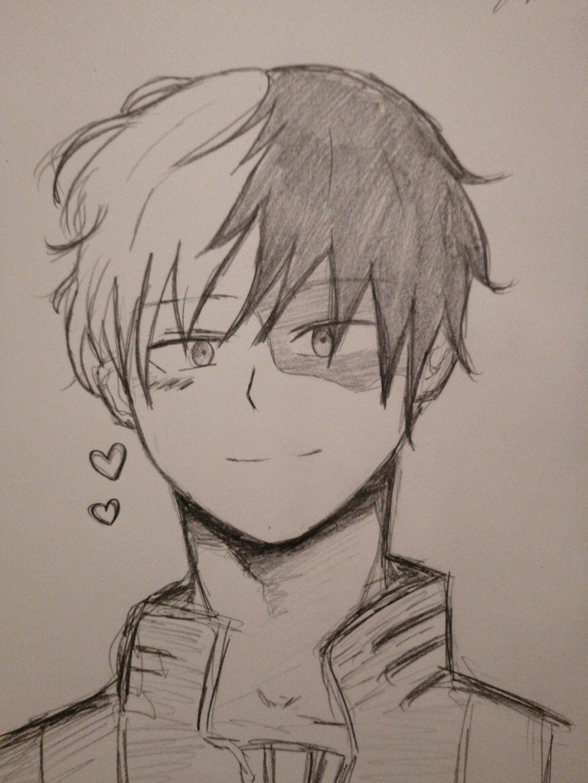 Todoroki Drawing Cute : todoroki, drawing, Shoto, Todoroki, Fanart, Anime, Character, Drawing,, Sketch,, Drawings