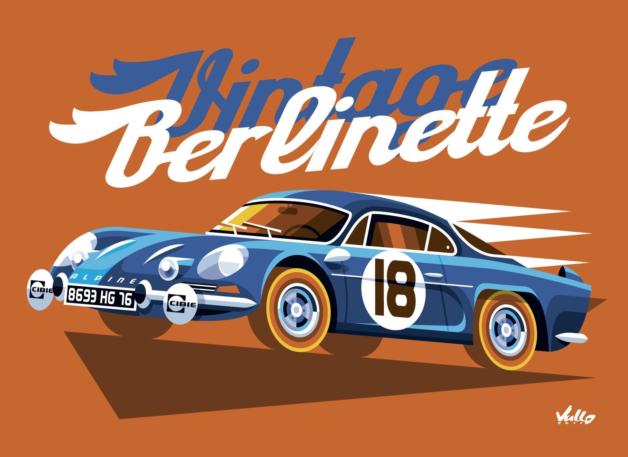 Vintage Berlinette, Alpine Berlinette by Mat Vullo. http://www.mateovullo.com/