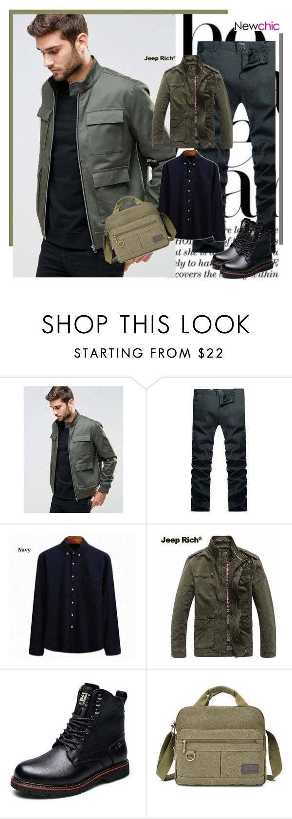 """""""Newchic.com 26"""" by bebushkaj ❤ liked on Polyvore featuring ASOS, Jeep Rich, men's fashion and menswear"""