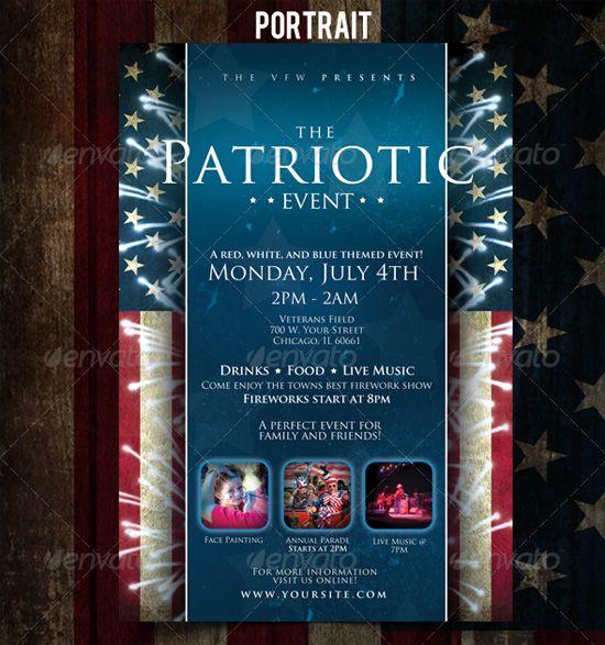 patriotic | Print Design | Pinterest | Event flyers