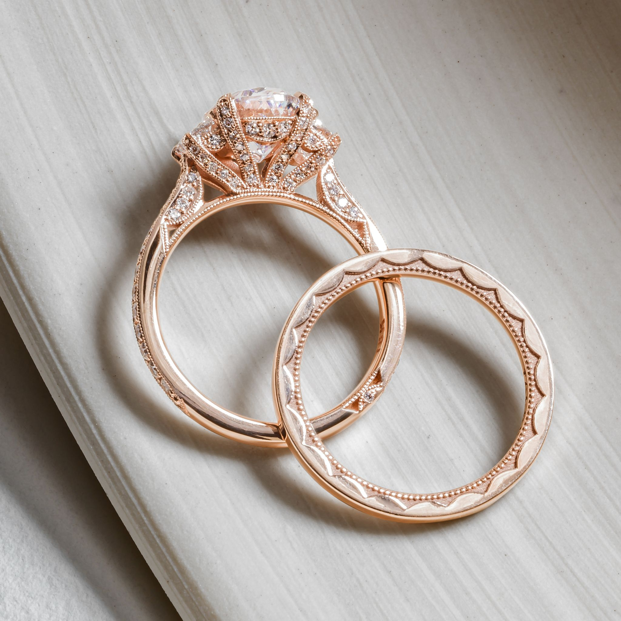 Pretty In Pink Style Numbers Ht2655ov95x75pk And 42 15etpk Tacori Tacorigirl Be Rose Engagement Ring Vintage Engagement Rings Dream Engagement Rings