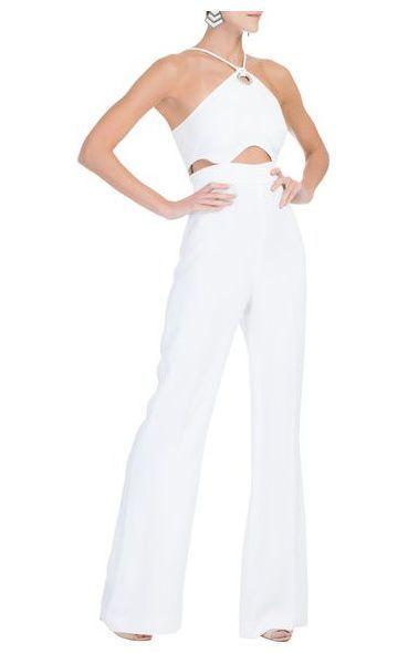 7e71ea71b Macacão alfaiataria recortes - branco Shorts Macacão, Macacão Branco,  Macacão Feminino Longo, Modelos