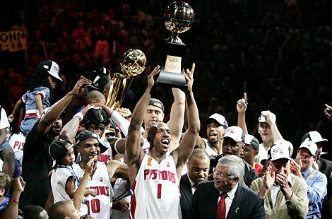 Pistons 2004 Championship With Images Detroit Pistons Detroit Sports Michael Jordan Basketball
