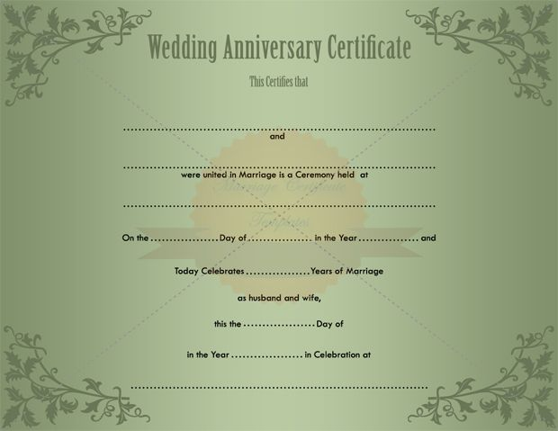 keepsake printable wedding certificate template