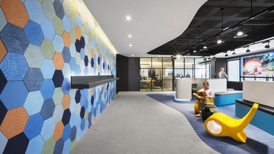 La ciudad del 2015 en las oficinas de microsoft barcelona interiorismo comercial y espacios - Oficina empleo barcelona ...