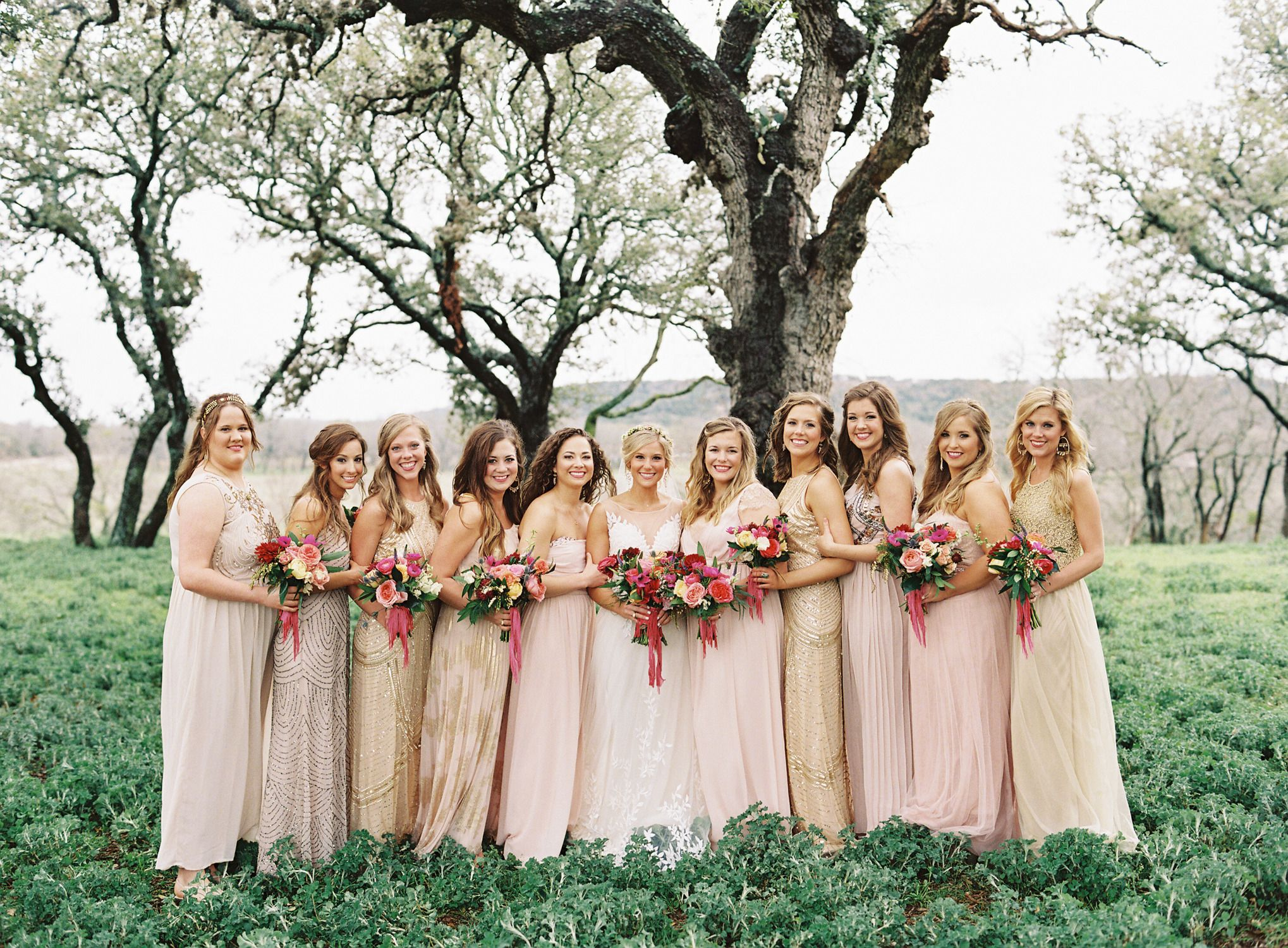 Colorful boho glam texas hill country wedding lace read more and