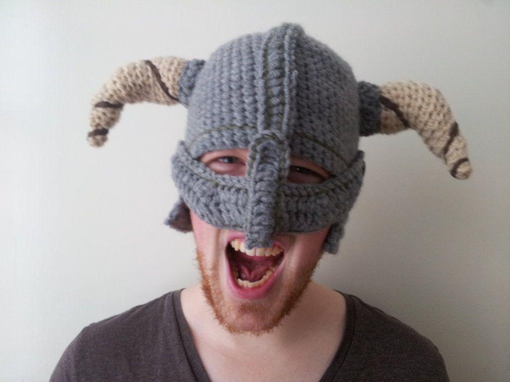 Crochet Dovahkiin Helmet by epicxcloth on DeviantArt  287e3b4322