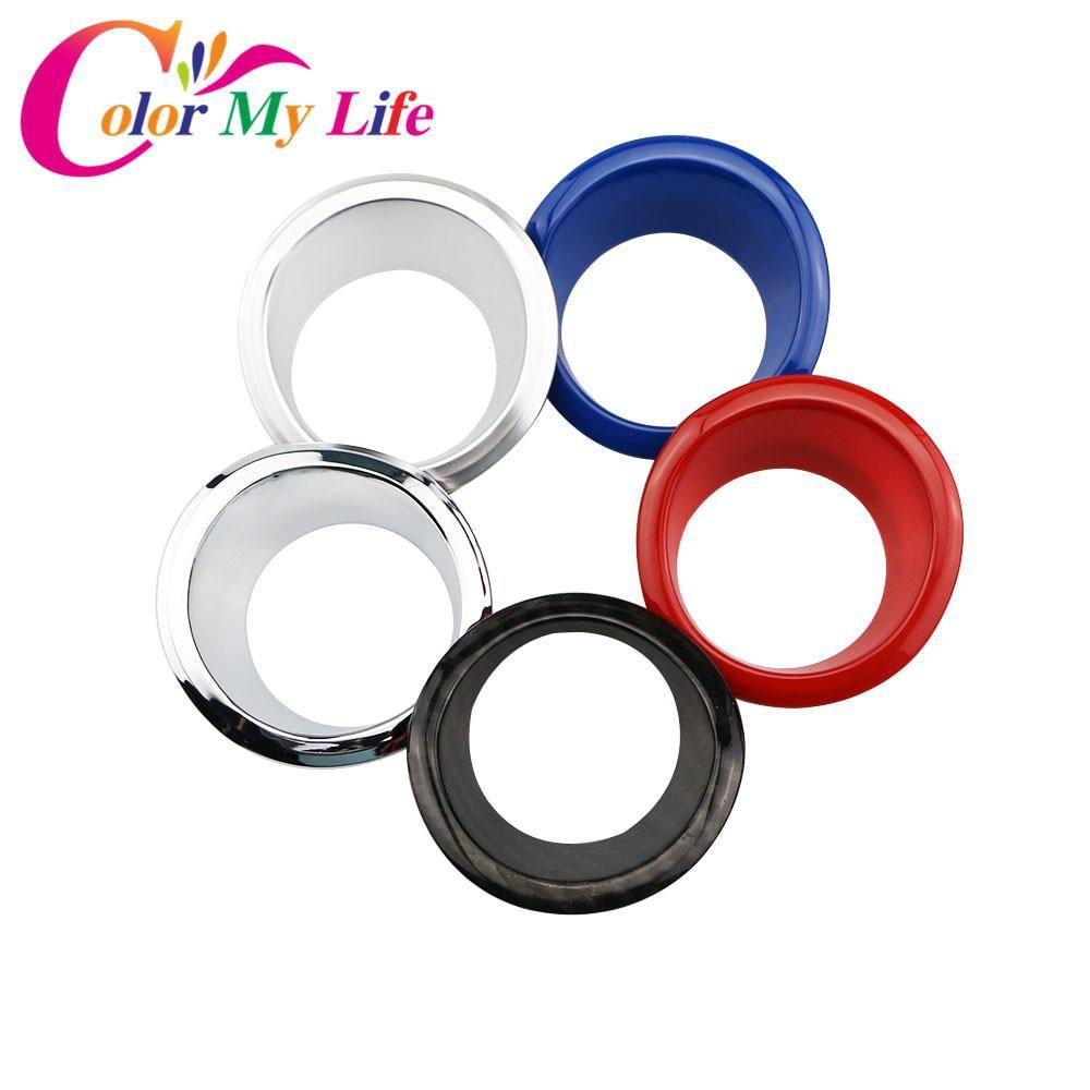 Carmilla Car Chrome Ignition Switch Key Decoration Ring Circle Trim