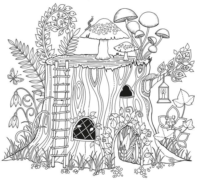 Image From Http Also Kottke Org Misc Images Basford Coloring Book 02 Jpg Garden Coloring Pages Free Coloring Pages Coloring Pages