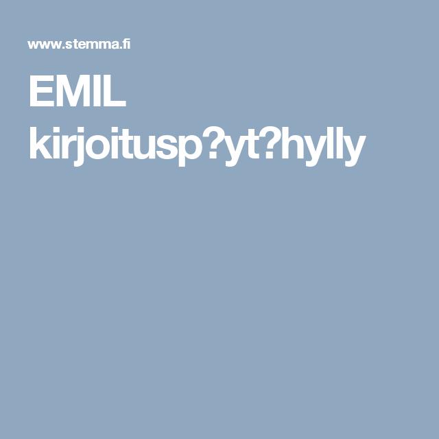 EMIL kirjoitusp�yt�hylly