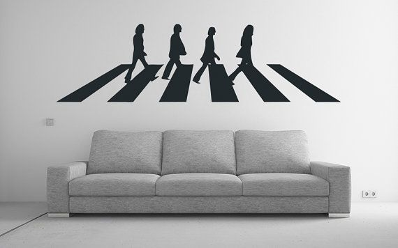 The Beatles Wall Decal Vinyl Wall Art by madmonkeydecals on Etsy ...