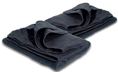 31c205736b Zone Tech Car Heated and Cooling Travel Blanket - 2-Pack Classic Black  Premium Quality