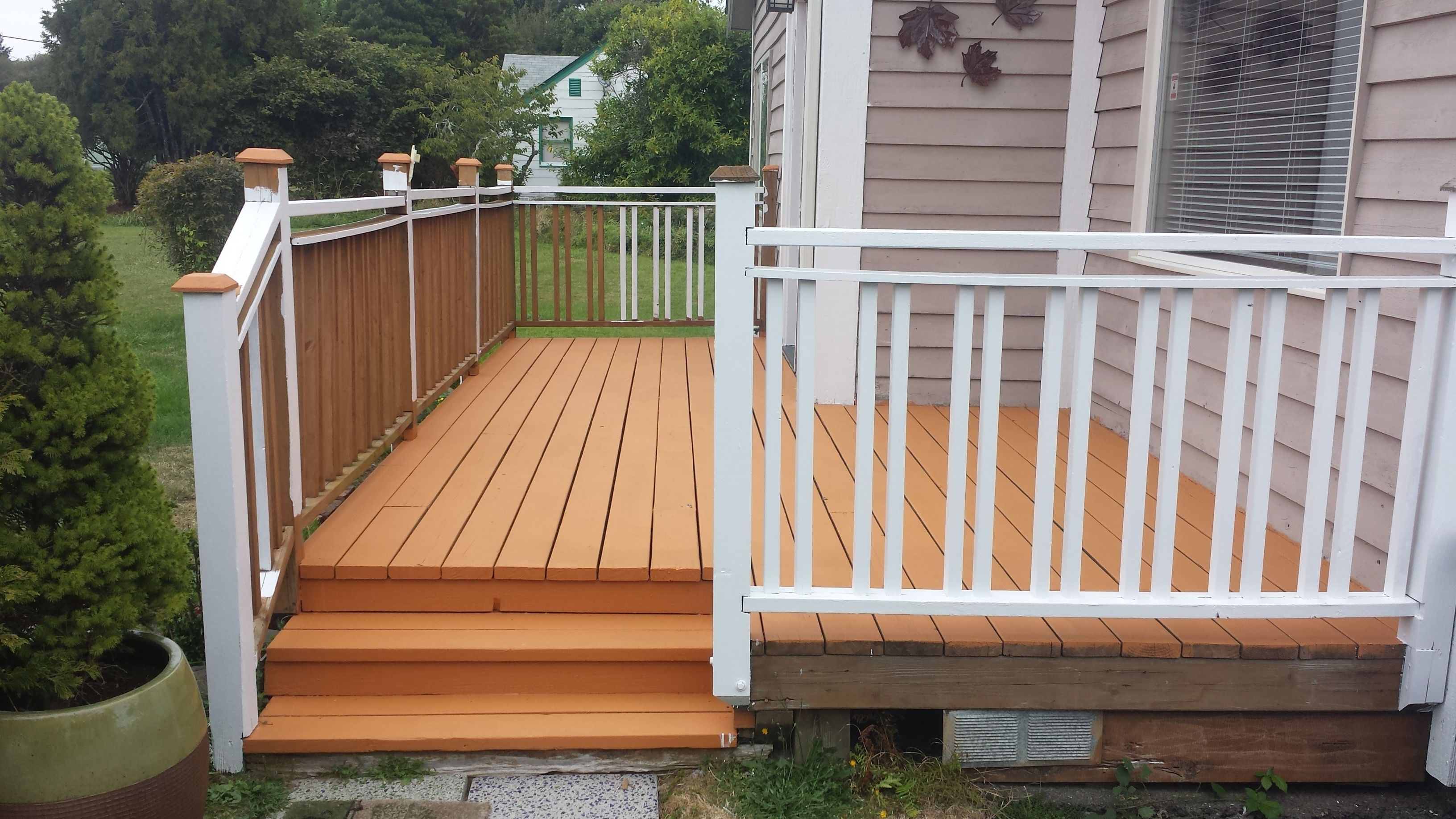 I went with the behr deck over paint which is really a for Behr deck over