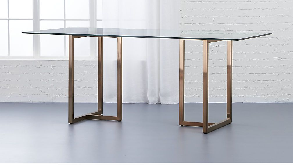 Transparency Glass Dinning Table Cb2 Dining Table Glass Dining