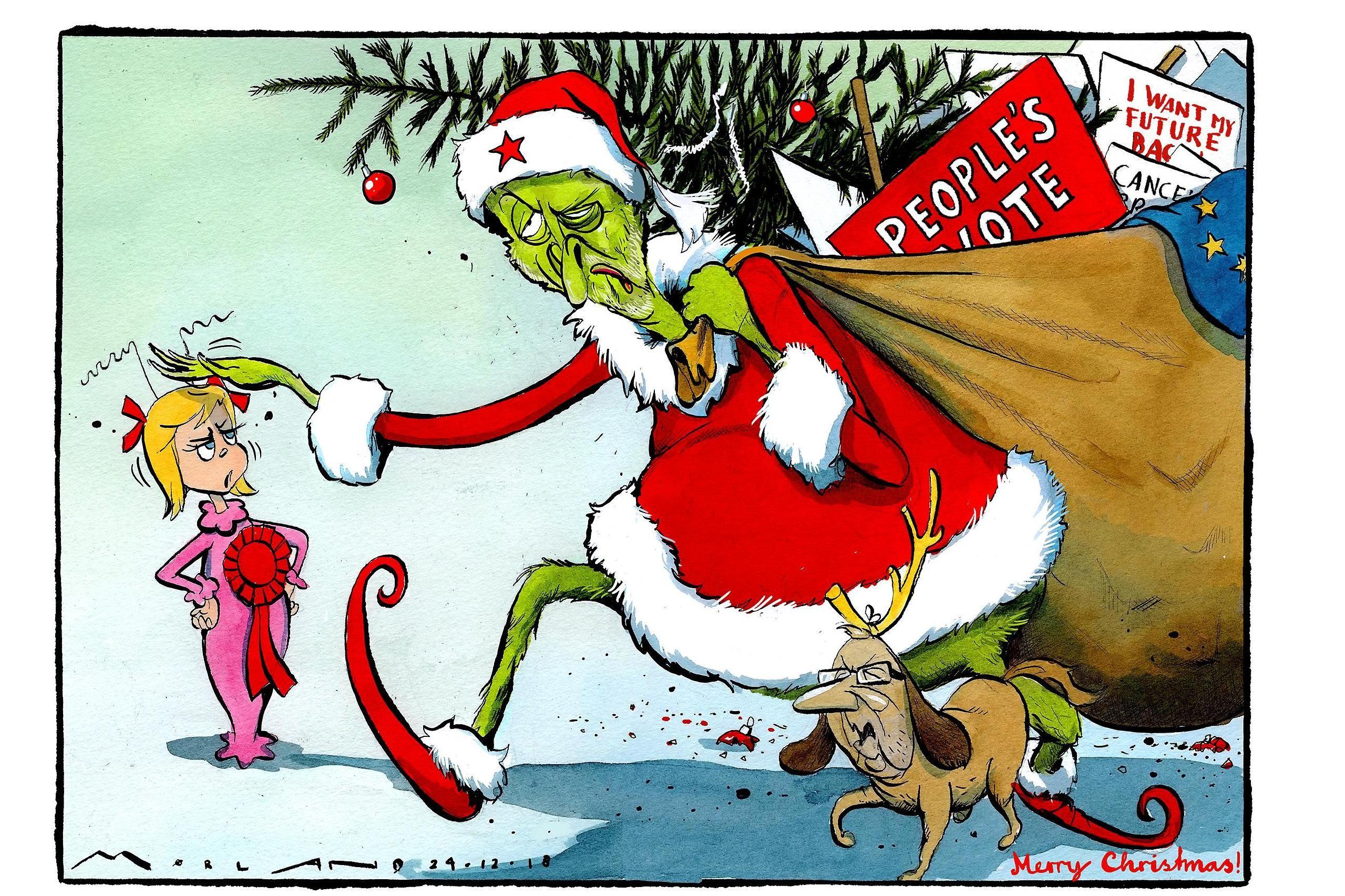 Times Cartoon The Grinch Political Cartoons Cartoon Political