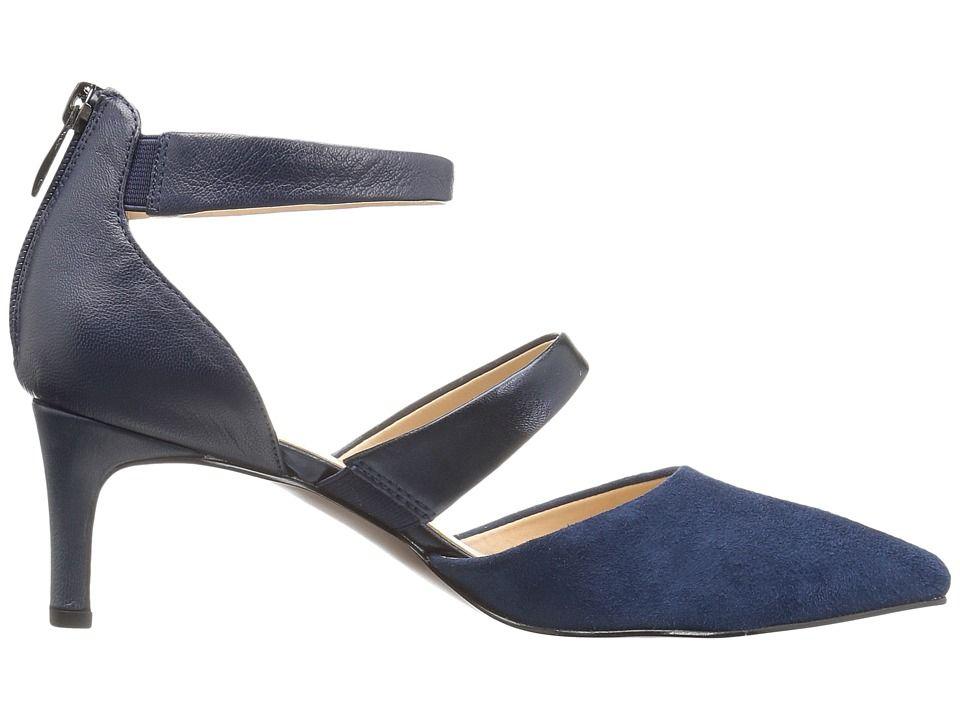 e1b09220baf Franco Sarto Davey Women s Shoes Lapis Blue Diva Suede Metallic ...