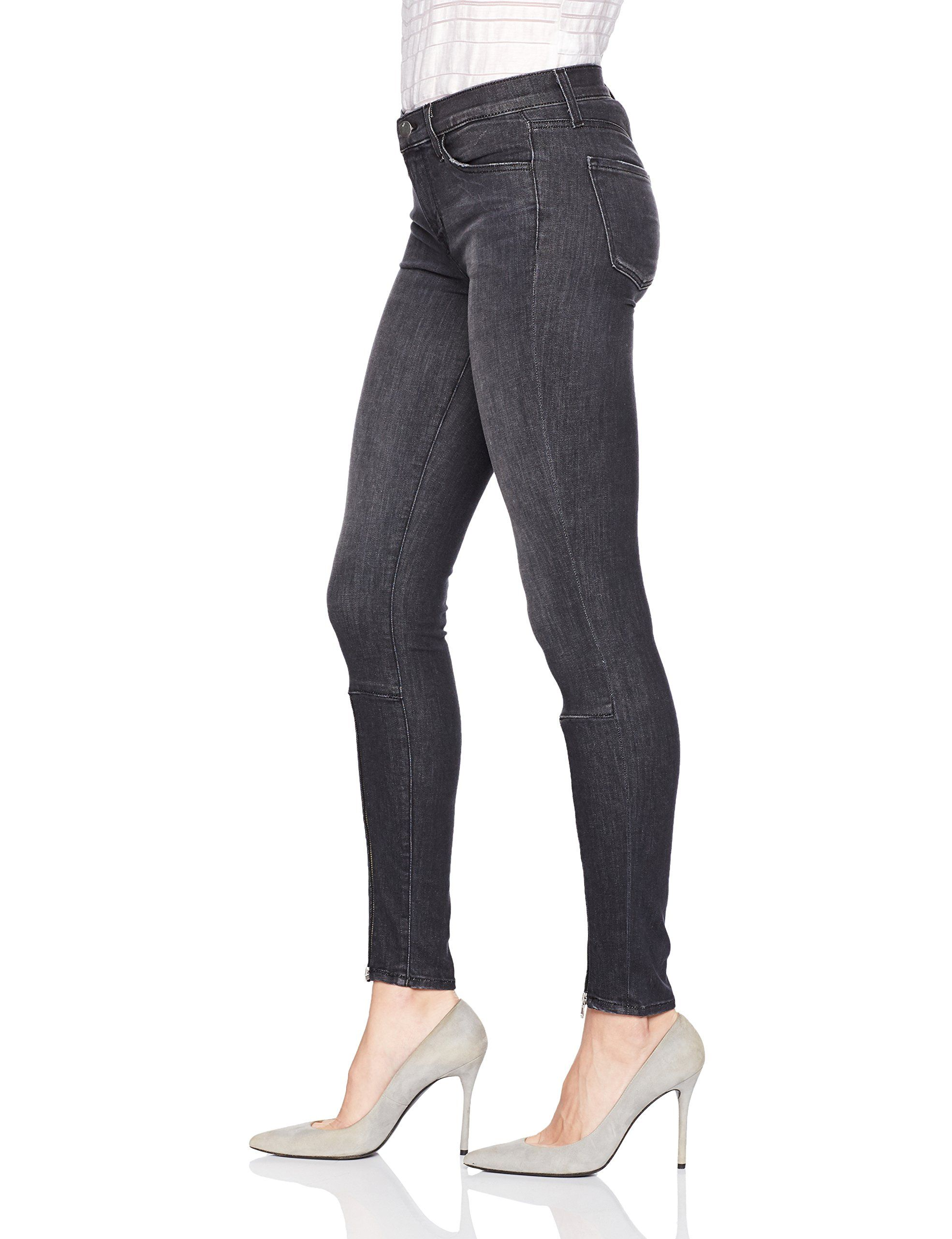 ef962ba1cd4d J Brand Jeans Womens 620 Mid Rise Super Skinny with Zip Jeans Black Heath  28 ** To view further for this item, visit the image link.