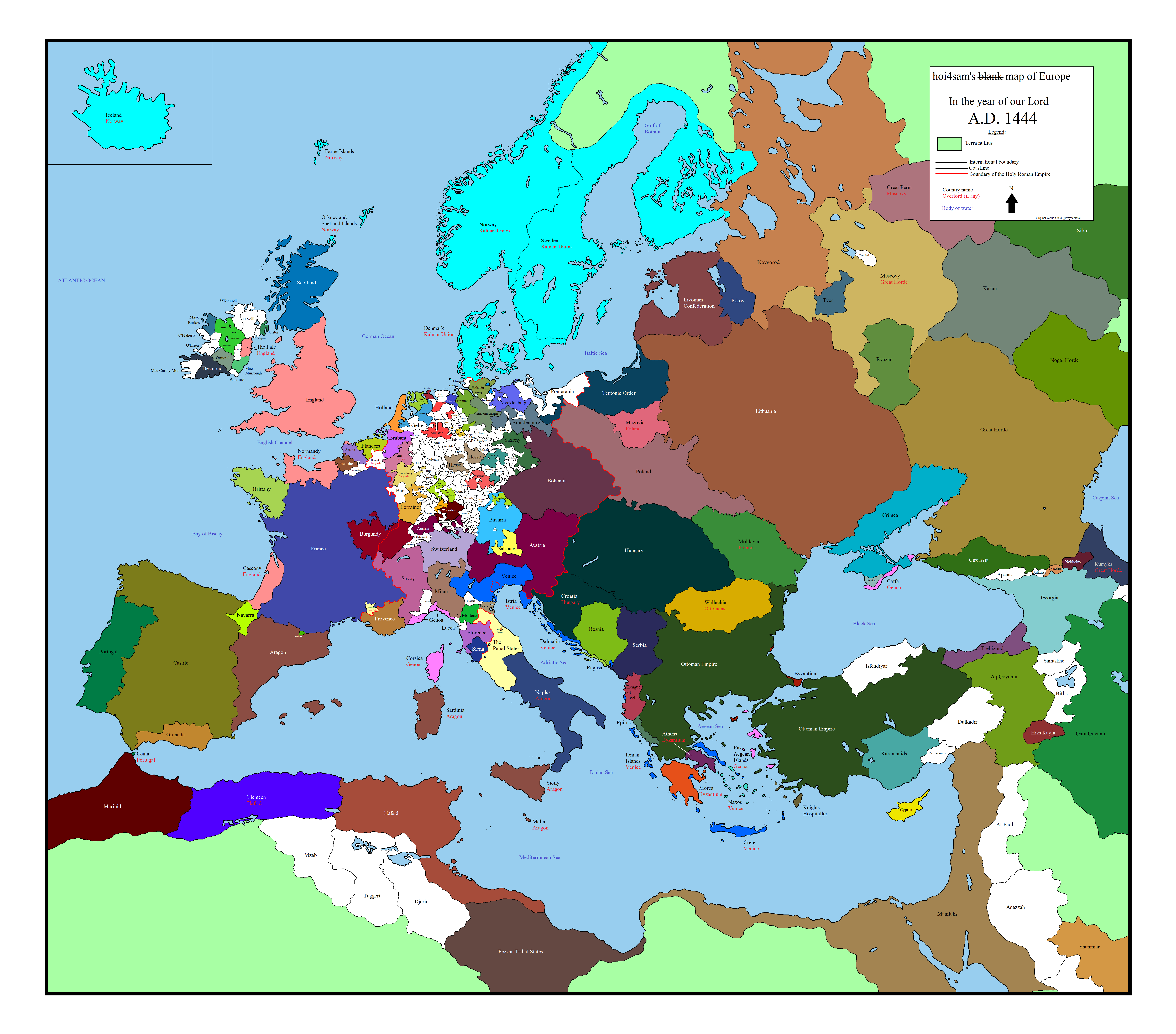 Europe 1444 A D Germaniya Pinterest Map Europe And Diagram
