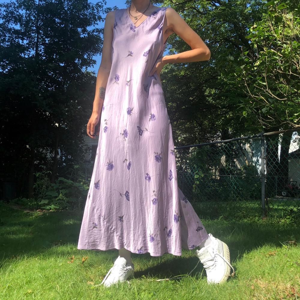 Vintage 90/'s floral silky dress