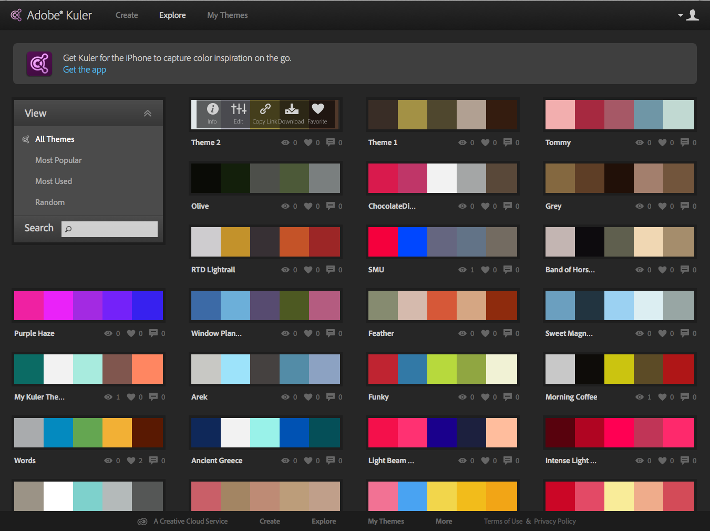 Color adobe online - Adobe Kuler Explore