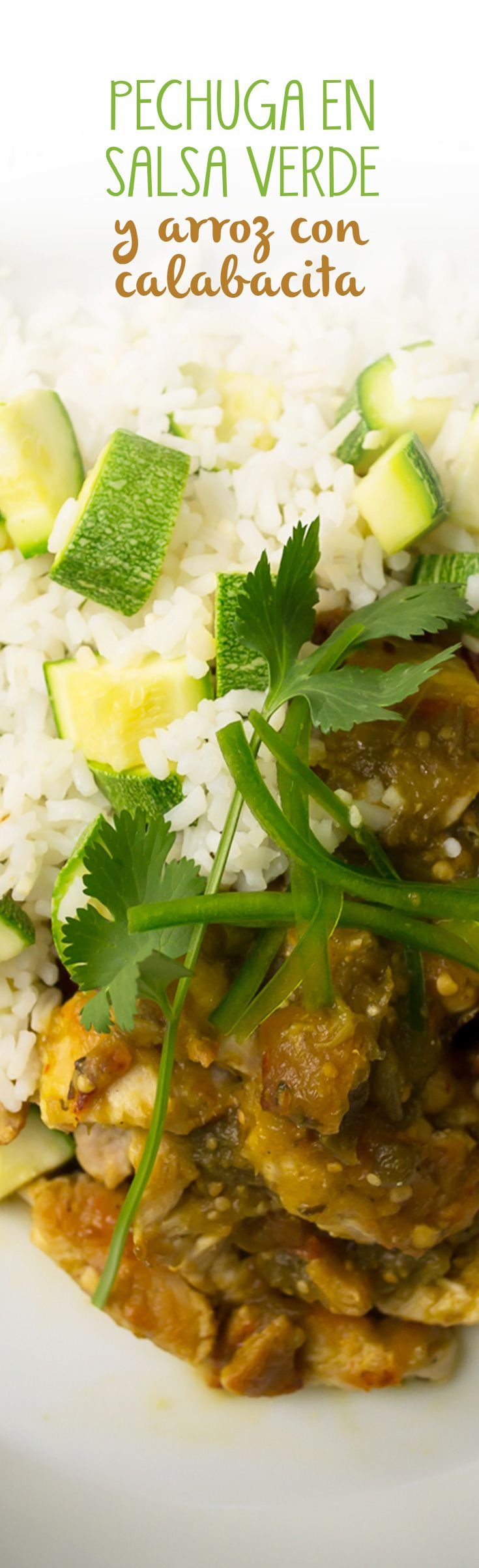 Pechuga en salsa verde y arroz con calabacita recipe food pechuga en salsa verde y arroz con calabacita recipe food recipes and food food forumfinder Choice Image
