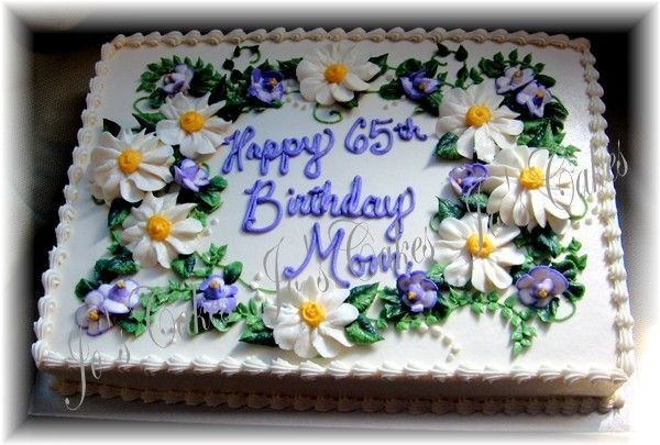Daisies And Violets With Images Birthday Sheet Cakes Slab