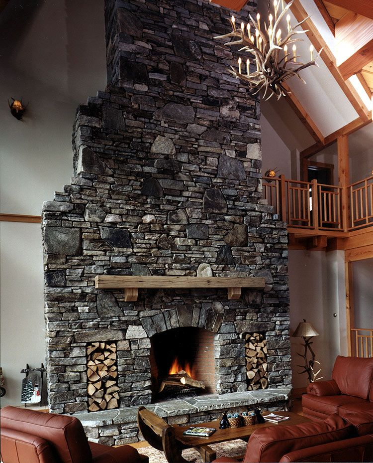 Stone Fireplace With Raised Hearth | 42 Rumford Stone Veneer W Arch And  Raised Hearth Stone