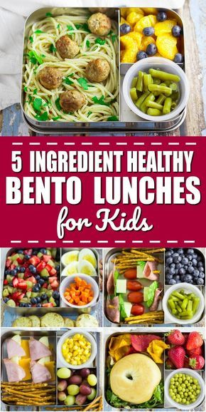 5 Ingredient Bento Box Lunches for Kids for a Week images
