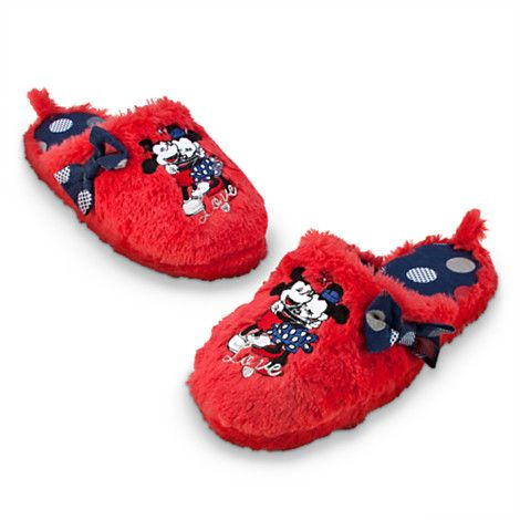 6915d0aa659e0 Disney Store - Mickey and Minnie Mouse Slippers for Women | mickey ...
