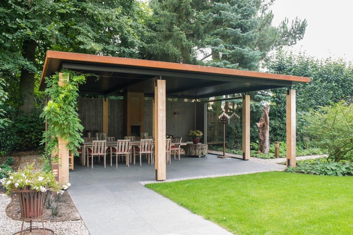Overkappingen tuin overkapping for Huis in de tuin