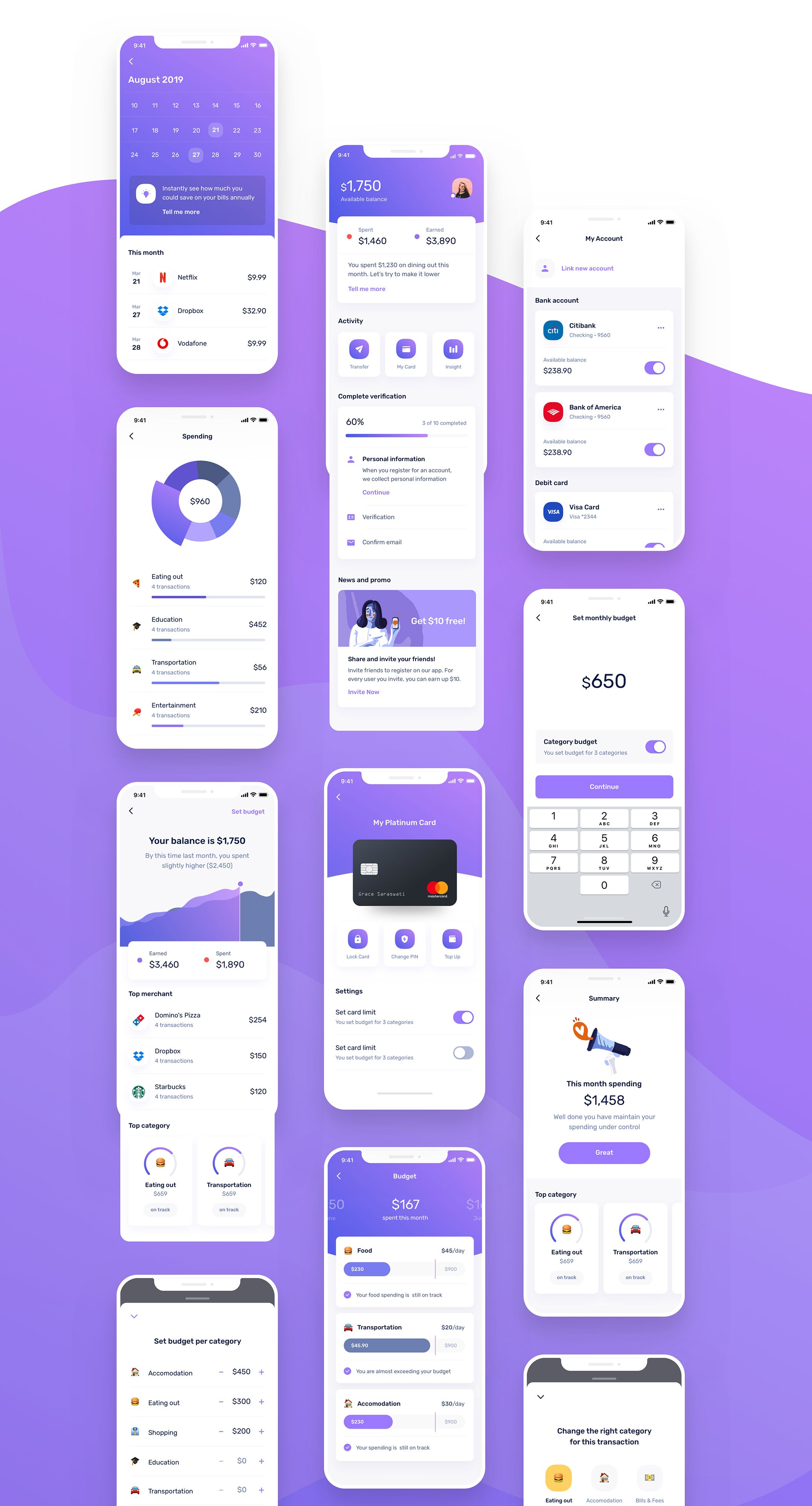 Finance Mobile UI UX