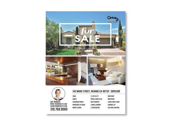 Realtor Real Estate FOR SALE Just SOLD Flyer TEMPLATE Keller - Real estate just sold flyer templates