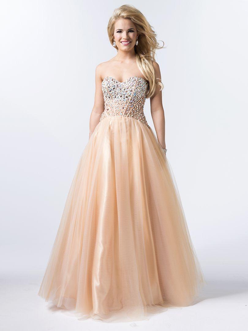 1950s Golden Stripe Tulle Prom Dress | Tulle prom dress