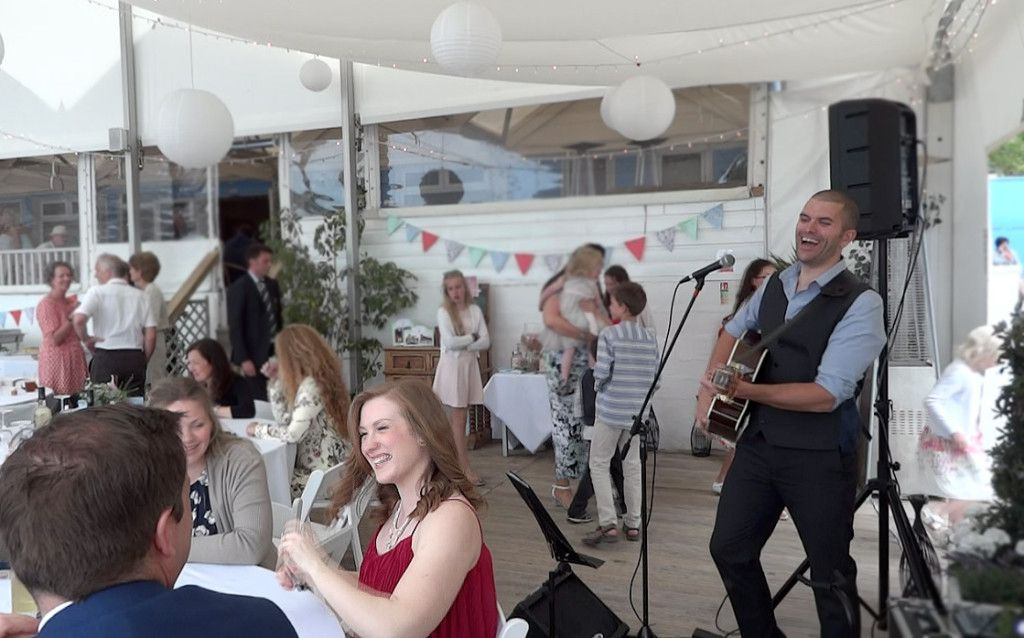 Lusty Glaze Cornwall Live Acoustic Music At Helen Andrews Wedding